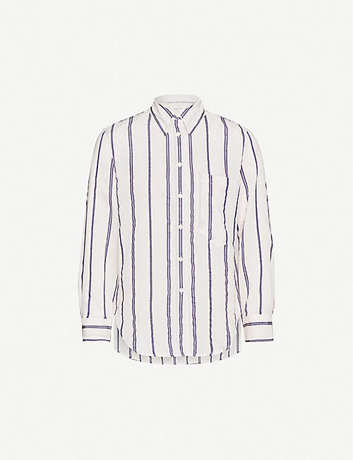 ISABEL MARANT ETOILE Yvana striped cotton-blend shirt