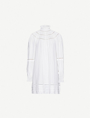 ISABEL MARANT ETOILE Adenia high-neck linen mini dress