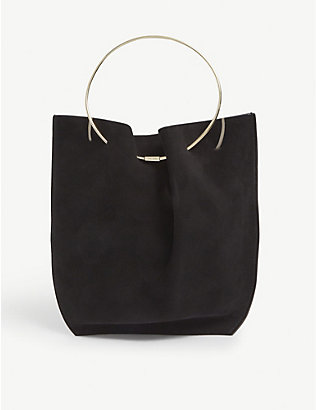 THE ROW: Suede bracelet bag