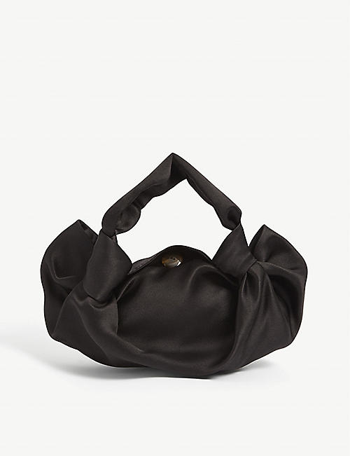 THE ROW: Ascot small silk clutch bag