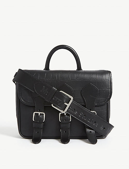 MULBERRY Mulberry x Acne croc-embossed leather messenger bag