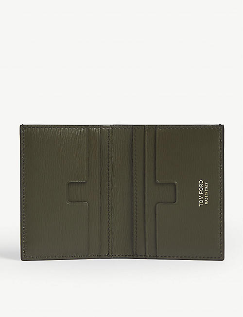 TOM FORD Folding leather card wallet