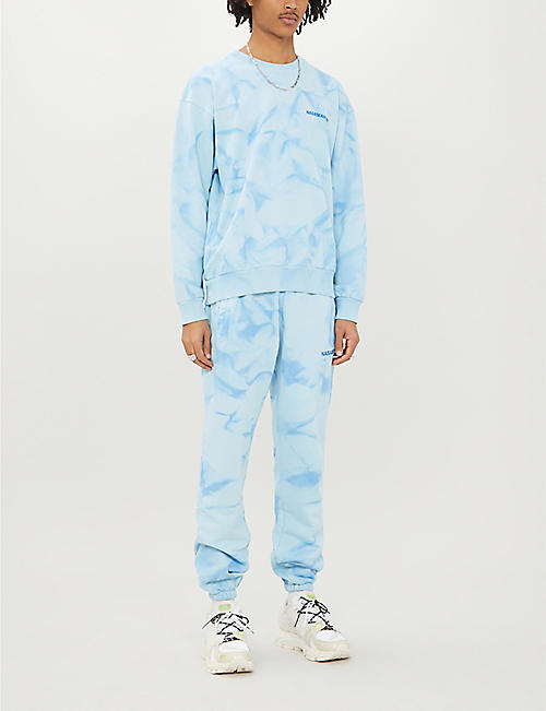 NASASEASONS Tie-dye cotton-jersey jogging bottoms