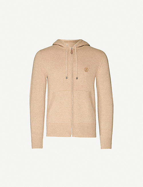 BURBERRY Lindley cashmere-blend drawstring hoody