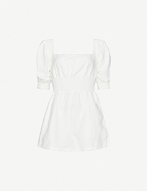 ONIA X WEWOREWHAT Onia x WeWoreWhat linen playsuit