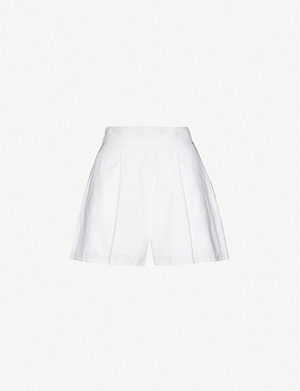 ONIA X WEWOREWHAT Etoile high-rise cotton shorts