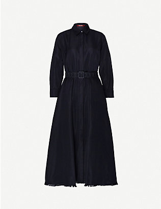 MAX MARA STUDIO: Massimo poplin midi shirt dress