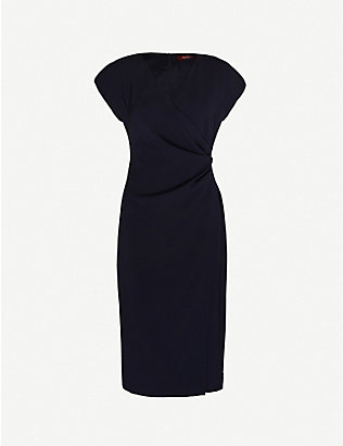 MAX MARA STUDIO: Parola crepe midi dress