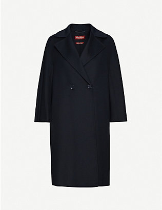 MAX MARA STUDIO: Ode unlined wool, cashmere and silk coat