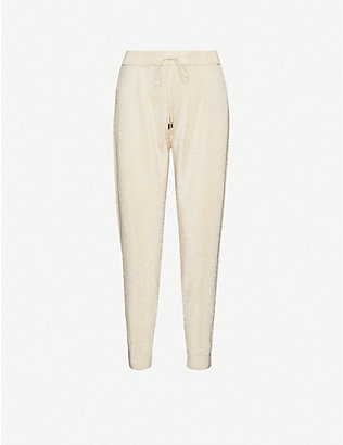 MAX MARA STUDIO: Tapered-leg mid-rise knitted trousers