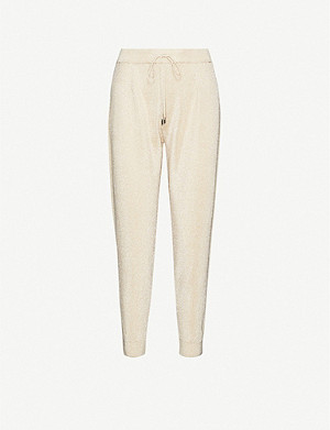 MAX MARA STUDIO Tapered-leg mid-rise knitted trousers