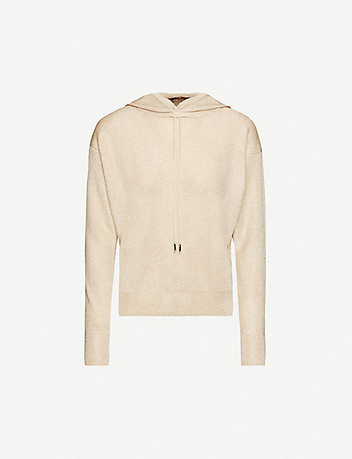 MAX MARA STUDIO Metallic relaxed-fit lurex hoody