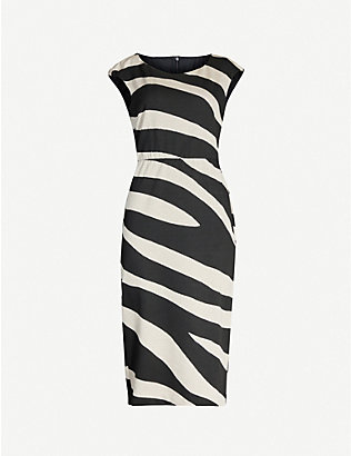 MAX MARA STUDIO: Blasone striped stretch-woven mini dress