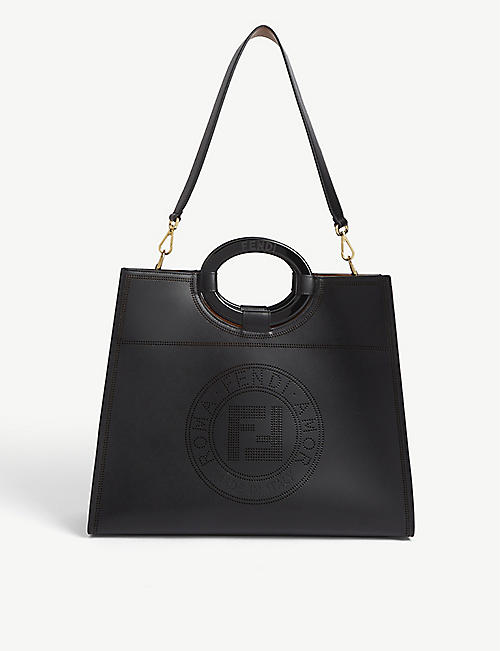 FENDI Perforated leather tote bag