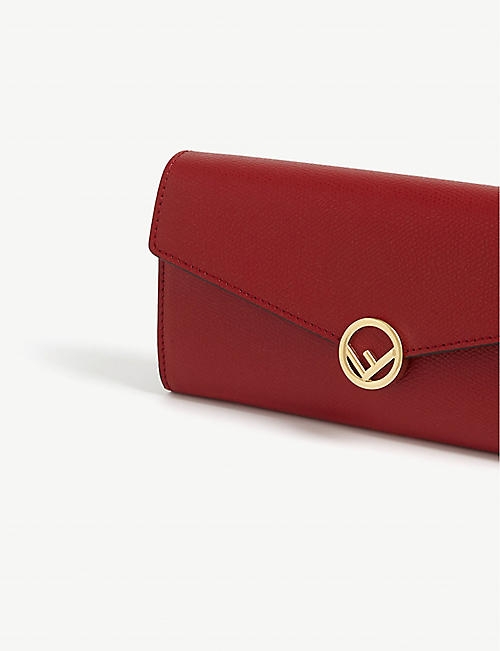 FENDI Continental envelope leather wallet