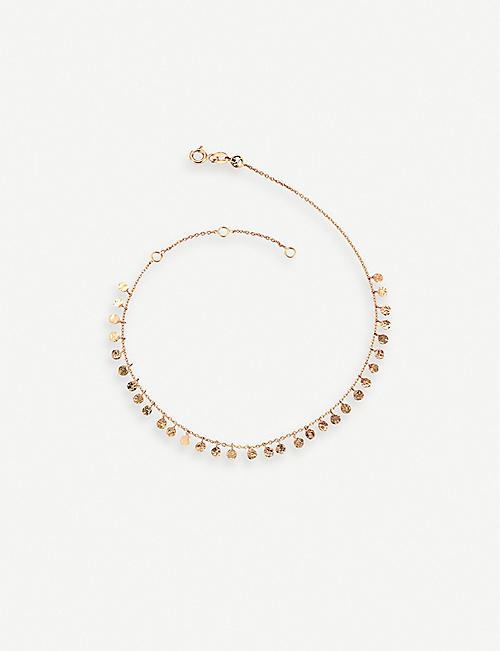 THE ALKEMISTRY: The Alkemistry x Kismet by Milka disco bead rose-gold anklet