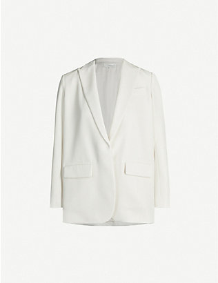 VINCE: Notch-lapel crepe blazer