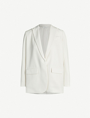 VINCE Notch-lapel crepe blazer
