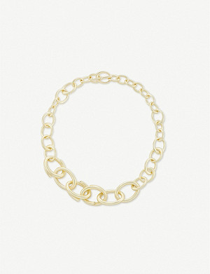 KENDRA SCOTT Walker Link 14ct gold-plated necklace