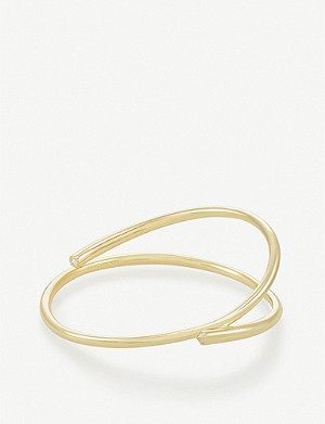 KENDRA SCOTT Myles 18ct rose gold-plated bangle