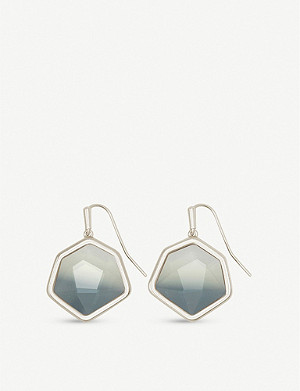 KENDRA SCOTT Vanessa 14ct rose gold-plated drop earrings