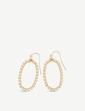 KENDRA SCOTT Elle open frame rose gold-plated earrings