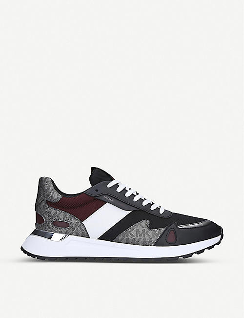 MICHAEL MICHAEL KORS: Miles panelled mesh and leather trainers