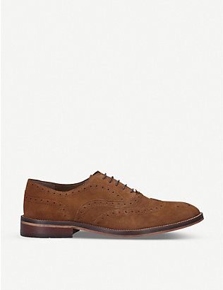 KG KURT GEIGER: Ocean perforated leather brogues