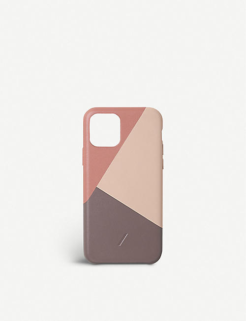 THE CONRAN SHOP Marquetry iPhone 11 Pro leather phone case