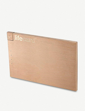 THE CONRAN SHOP LifeCard gold-plated power bank