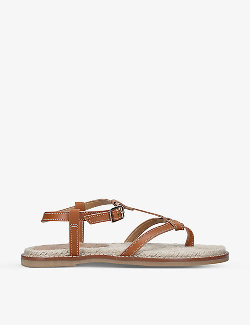 KURT GEIGER LONDON: Ovee leather espadrille sandals