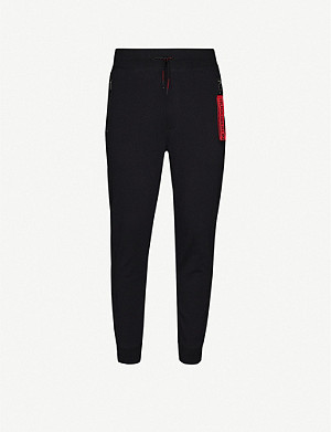 HUGO Drawstring-waist tapered cotton-jersey jogging bottoms