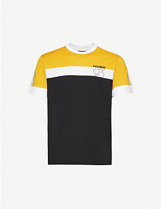 HUGO: Logo-print cotton-jersey T-shirt