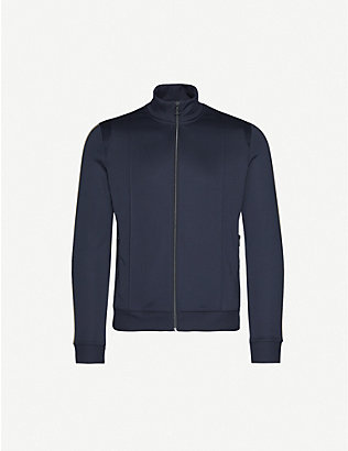 HUGO: Stripe-detail woven tracksuit jacket