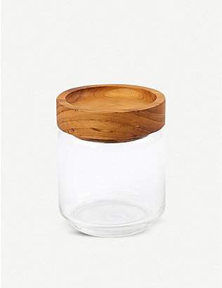 THE CONRAN SHOP: Teak storage jar 500ml