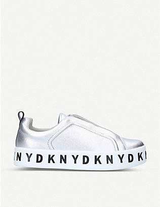 DKNY: Bashi branded-sole leather skate shoes