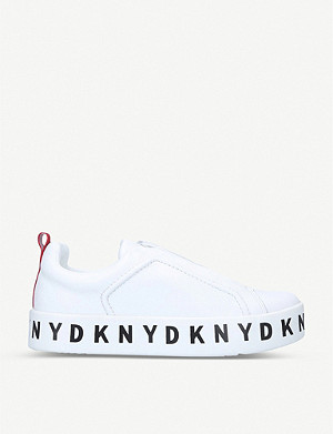 DKNY Bashi logo-embellished leather trainers