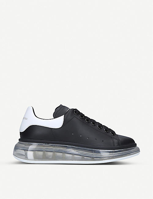 ALEXANDER MCQUEEN Ladies Runway transparent-sole leather trainers