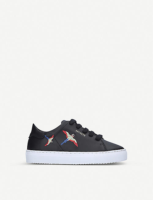 AXEL ARIGATO Clean 90 bird-embroidered leather trainers 3-8 years