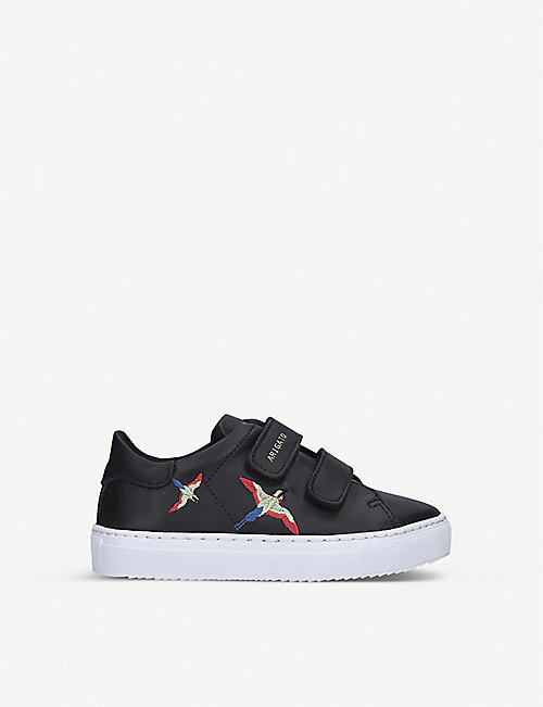 AXEL ARIGATO Clean 90 bird-embroidered leather trainers 7-12 years