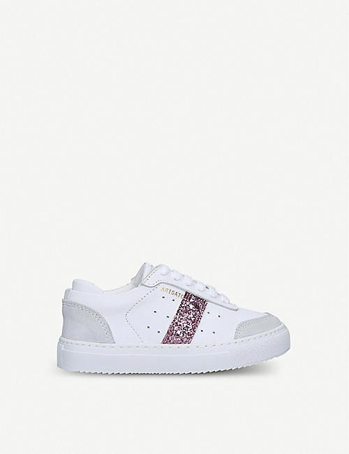 AXEL ARIGATO: Dunk glitter-embellished leather trainers 3-8 years
