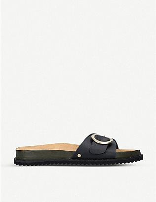 CARVELA: Klame buckle-detail leather sandals