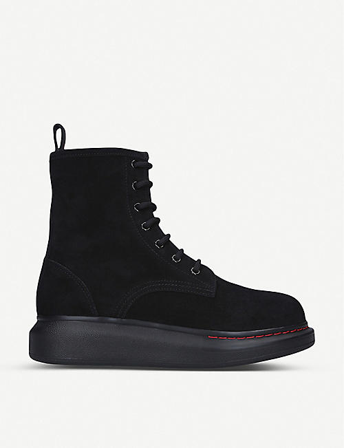 ALEXANDER MCQUEEN: Combat leather boots