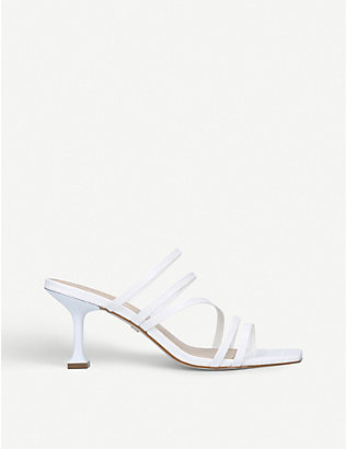 CARVELA: Glory square-toe leather heeled mules