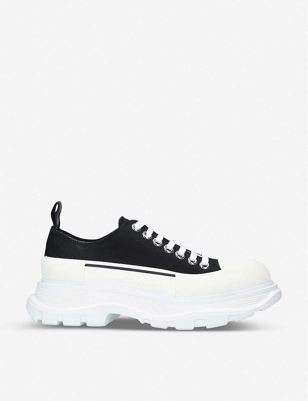 ALEXANDER MCQUEEN: Tread Slick lace-up cotton-canvas trainers