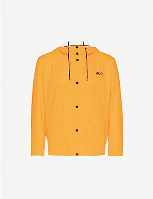 HUGO: Logo-print regular-fit shell jacket