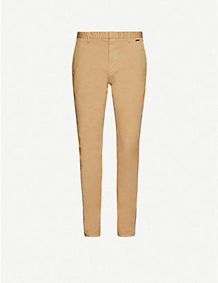 HUGO: Slim-fit stretch-cotton trousers