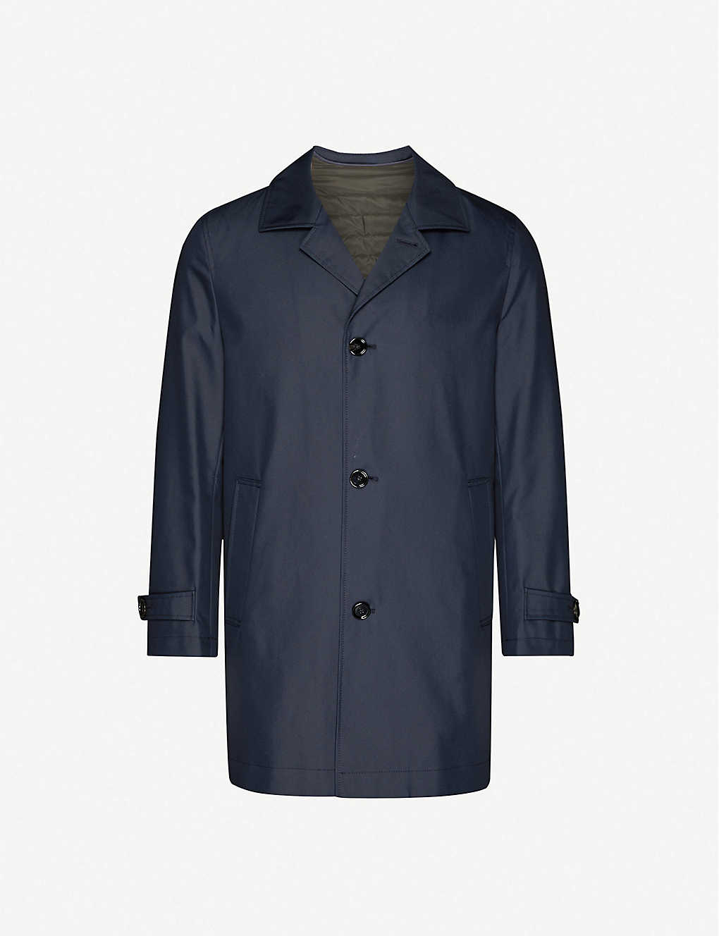 BOSS: Single-breasted regular-fit cotton-blend coat