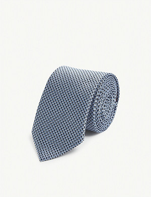 HUGO Patterned silk tie