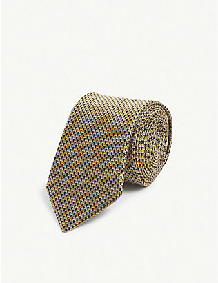HUGO: Patterned silk tie